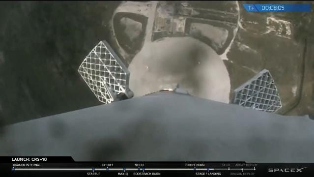 Falcon 9 blasts off from KSC, lands at Cape