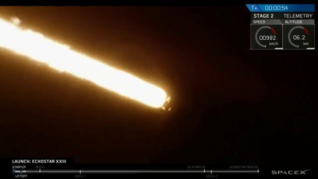SpaceX Falcon 9 rocket launches from Kennedy Space Center