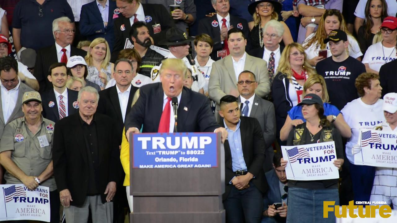 Donald Trump held a rally at the CFE arena on March 5 where a protest was also held.