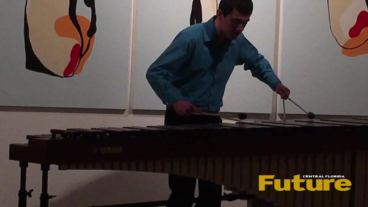 """The UCF Art Gallery hosted 'Sculptures in Wood,"""" a marimba recital performed by members of the UCF Percussion Studio on March 29."""