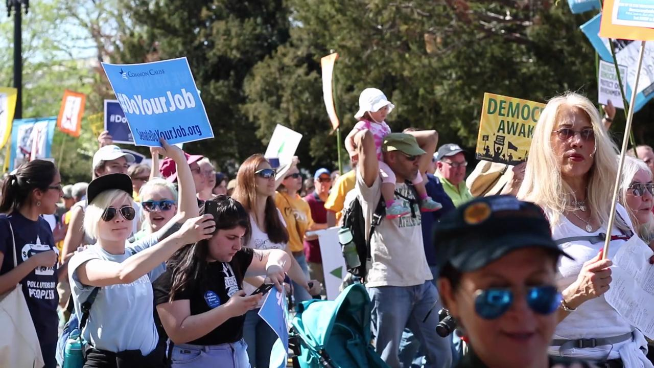UCF students marched among 5,000 concerned citizens in Washington D.C. on April 17 to advocate for campaign reform and voter rights.