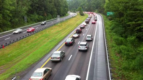 Accident slows traffic on I89