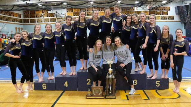 The Essex High School gymnastics won its 12th straight title and 25th in program history in last year's state championships.