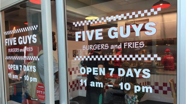 Five Guys burger restaurants has opened a second location in Vermont on Burlington's Church Street. The original store is in South Burlington