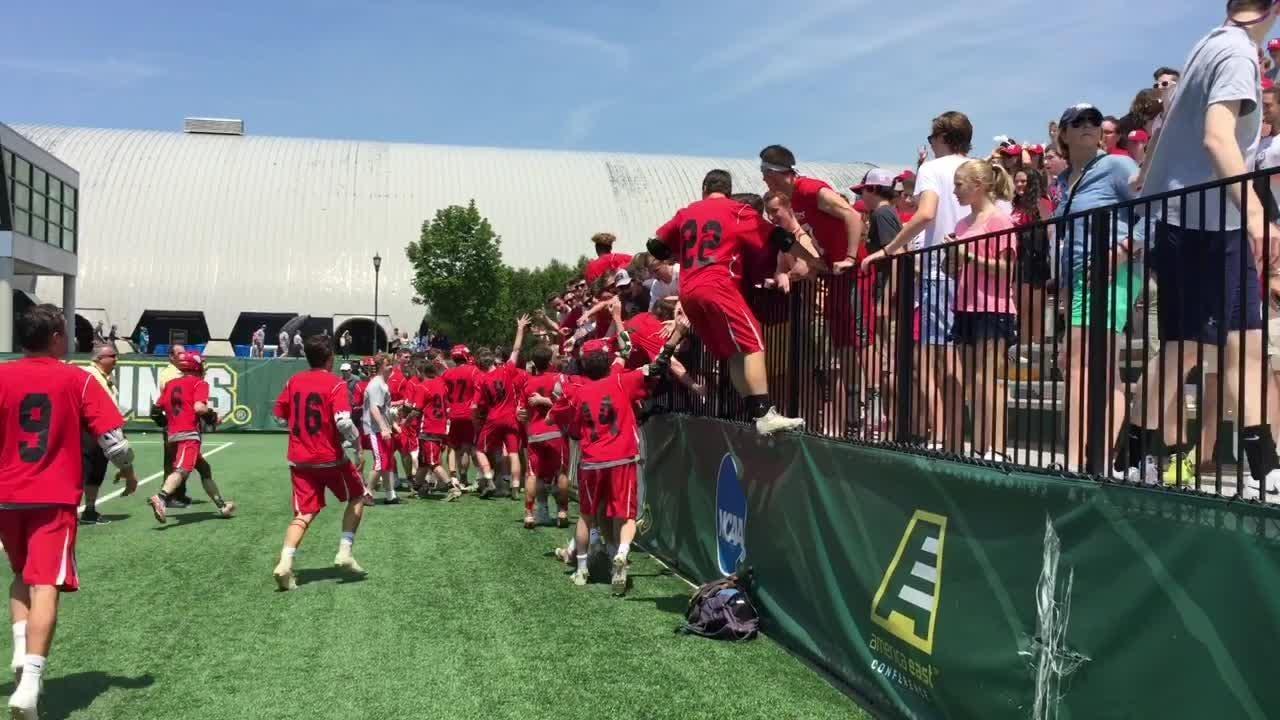 Video: CVU boys lacrosse celebrates five-peat