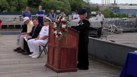 Last of Battleship New Jersey's Navy buglers returns for anniversary