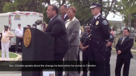Gov. Christie in Camden: I've watched the change in atmosphere