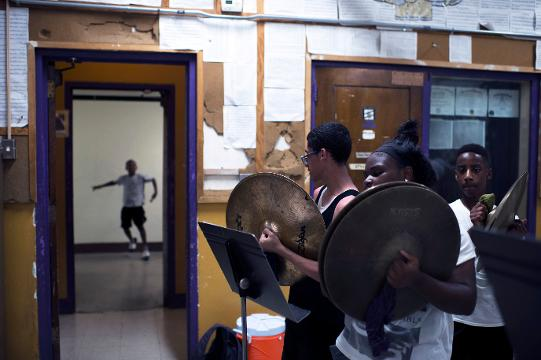 Band on the hill: Camden High's band begins its march to nationals