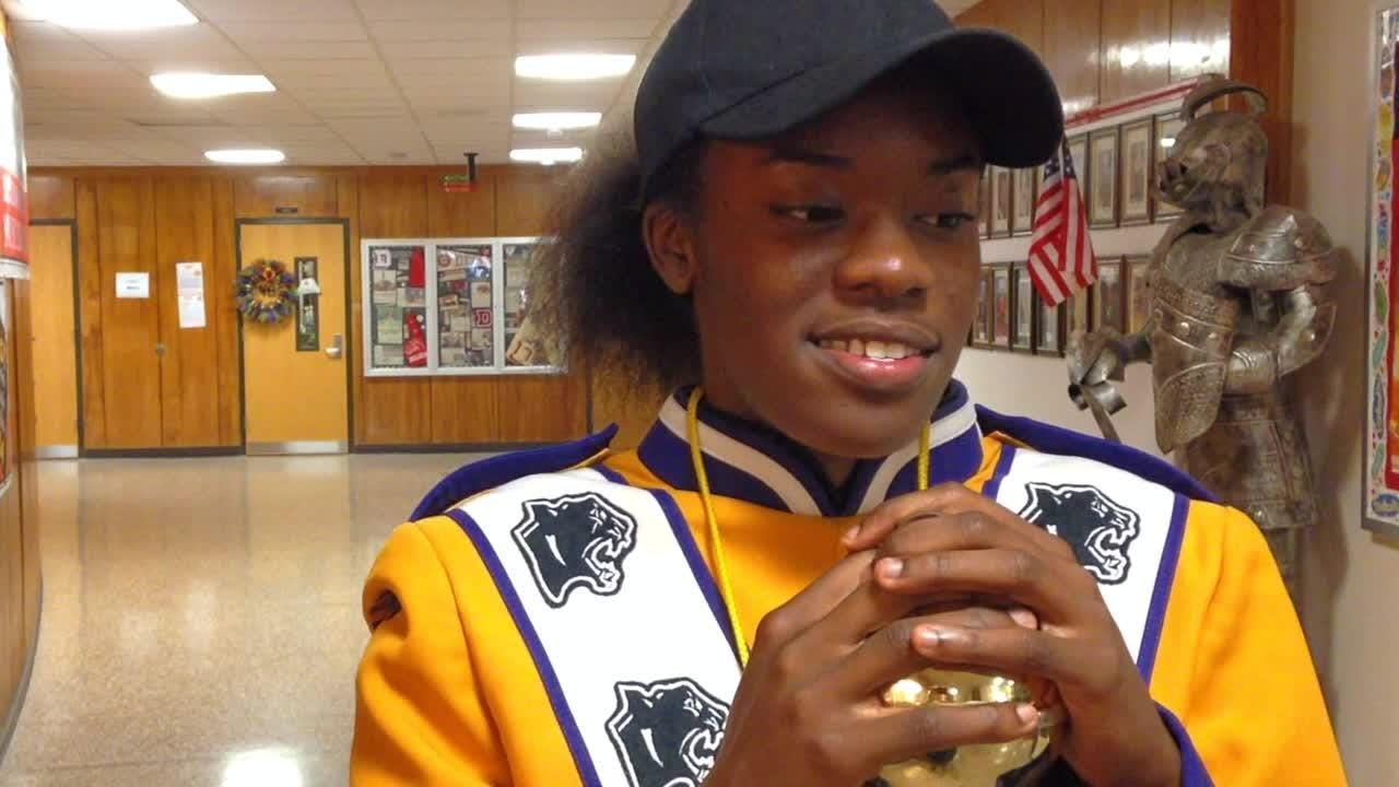 Band on the hill: Meet the Mighty Marching drum major
