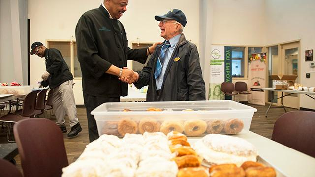 Watch Volunteer 87 Brings Pastries Joy To Cathedral Kitchen