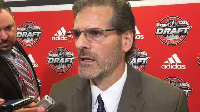 WATCH: Ron Hextall describes first-round pick Morgan Frost