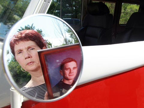 Charlotte and Jim Wethington, of Morningview, have restored a 1967 Volkswagen bus, which belonged to their son Casey, who died of a heroin overdose in 2002, in hopes of delivering Naloxone to people who overdose.