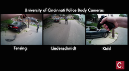 Synchronized view of UC police body cameras