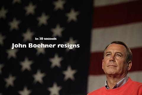 The basics: What you need to know about John Boehner's resignation