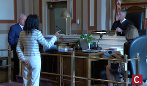 Tracie Hunter's attorney steps down, Hunter confronts judge