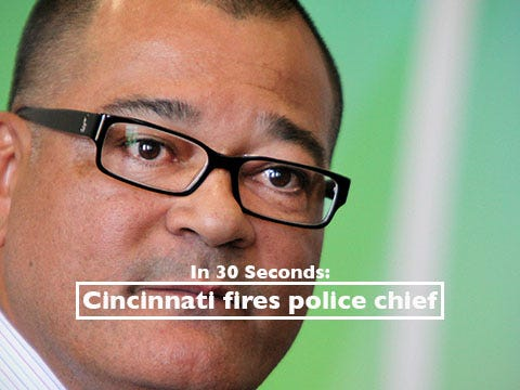 Catch up on police chief's firing in 30 seconds