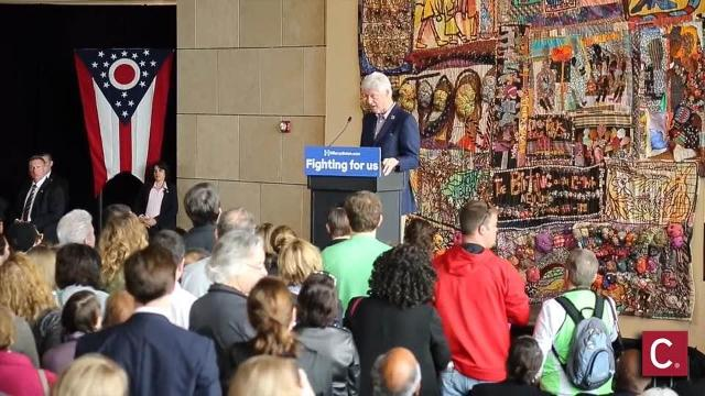 Bill Clinton rallies for Hillary at Freedom Center