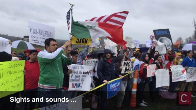 Protesting Donald Trump