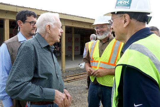 Former president Carter visits Ark Encounter