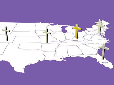 Christian tourism sites across U.S.