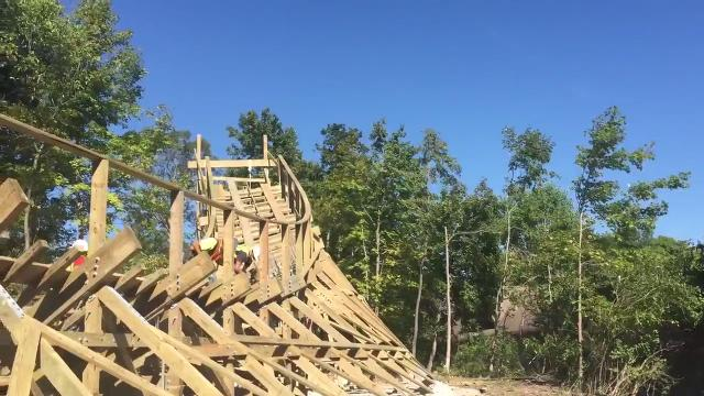A look at the Mystic Timbers construction