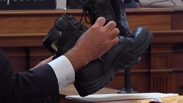 Crime lab: No evidence on Tensing's boots that he was dragged