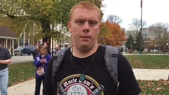OSU student Joshua Vaughn describes the scene on campus.