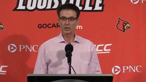 Video | Louisville coach Rick Pitino after Bellarmine exhibition