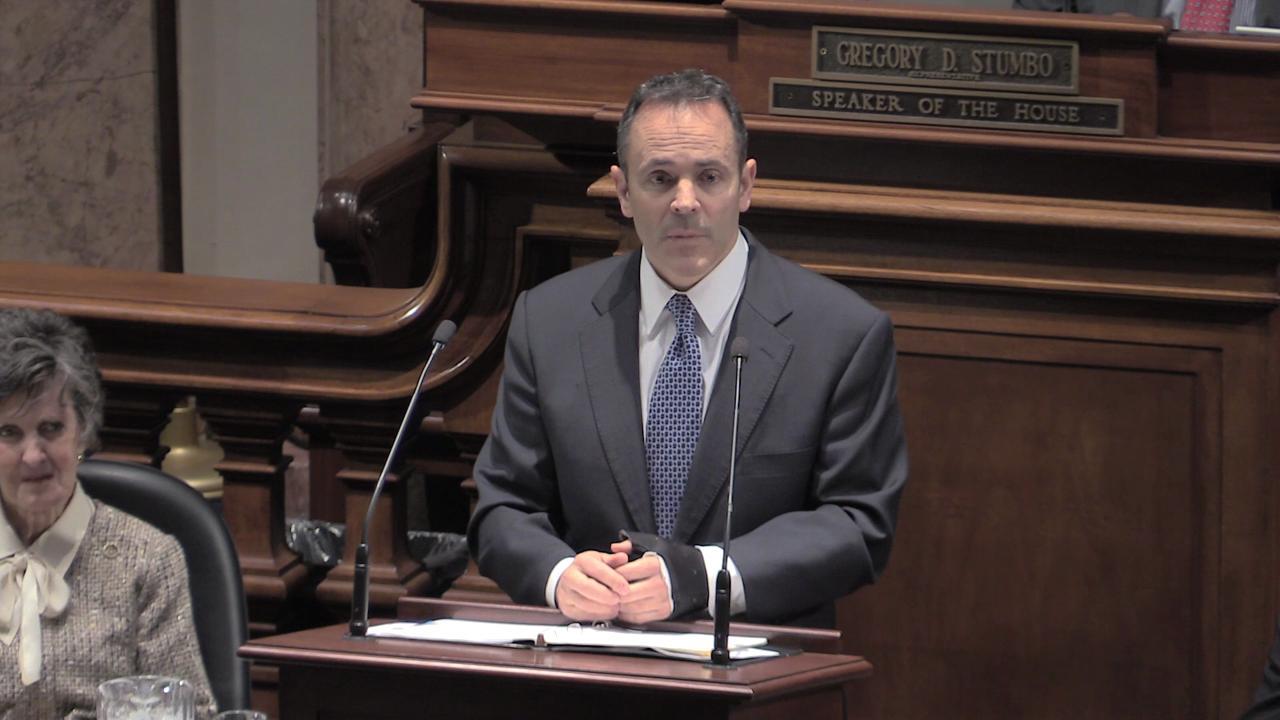 Video | Gov. Matt Bevin announces a 9% cut in state budget