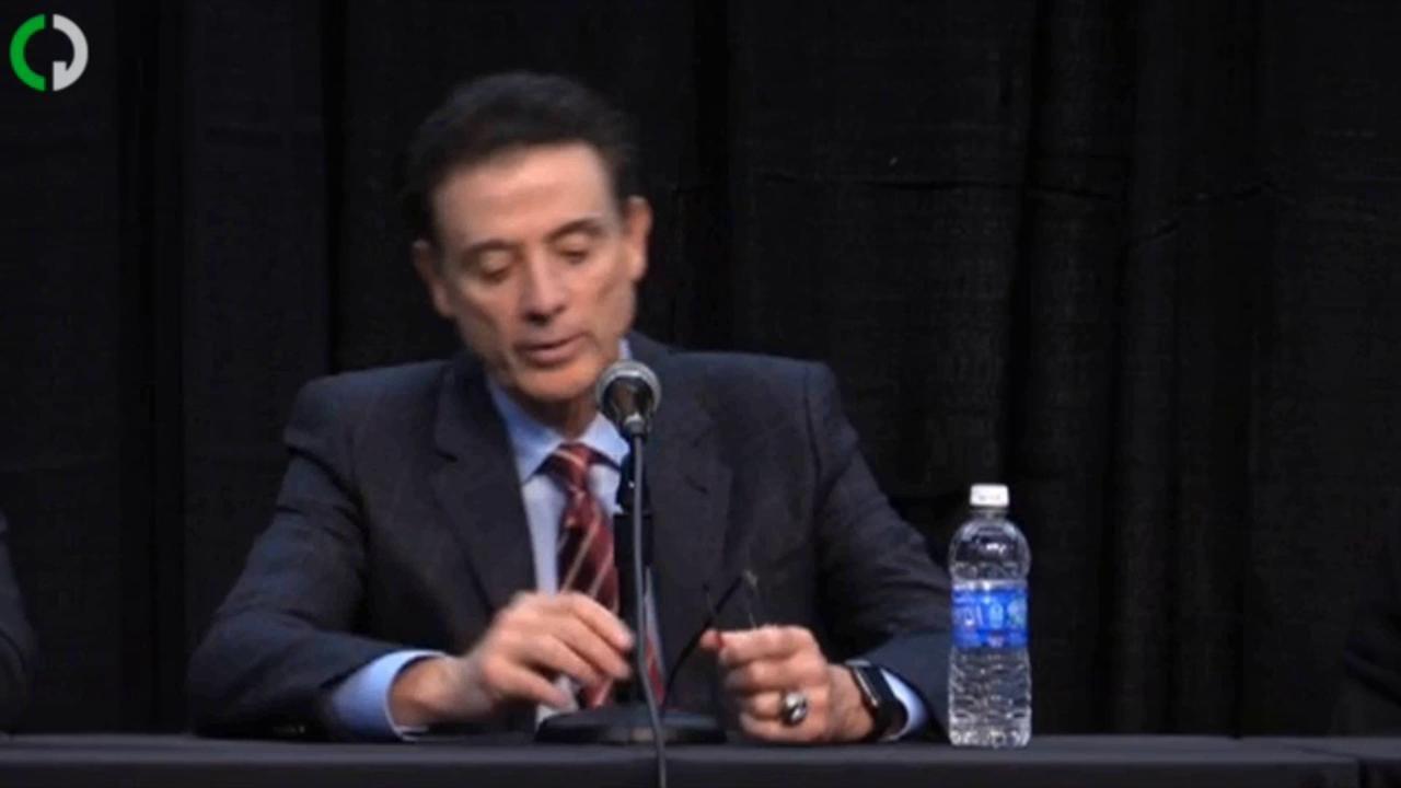 Video | Rick Pitino on University of Louisville's self-imposed ban