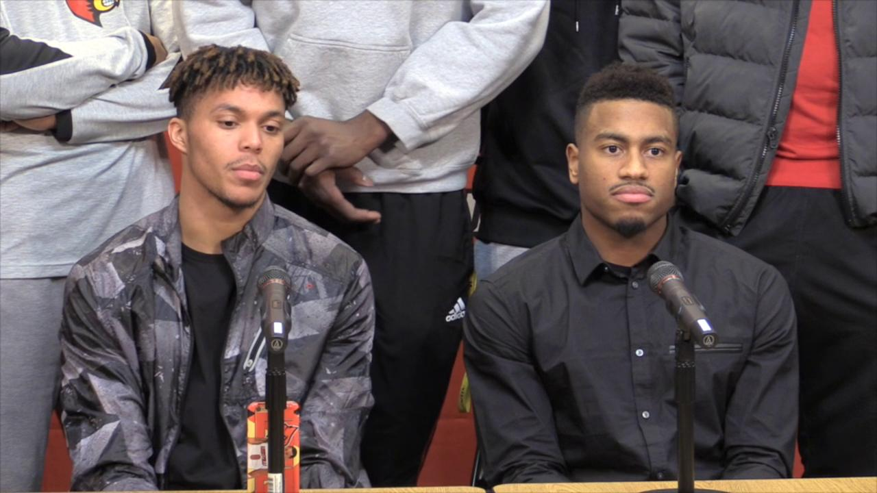 Video | Louisville's Lewis and Lee talk after post season ban