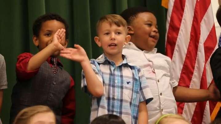 Video | Soldier surprises son at kindergarten graduation