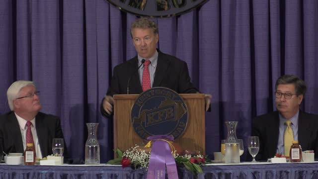 Sen. Rand Paul speaks at KFB Ham Breakfast at State Fair