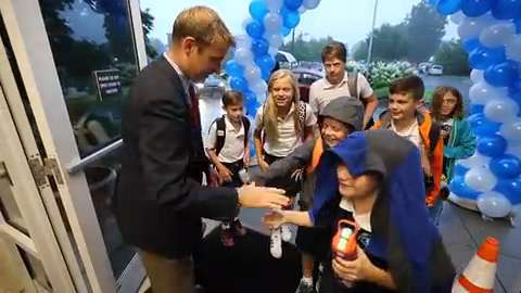 First day of school for Sacred Heart Model School | Video