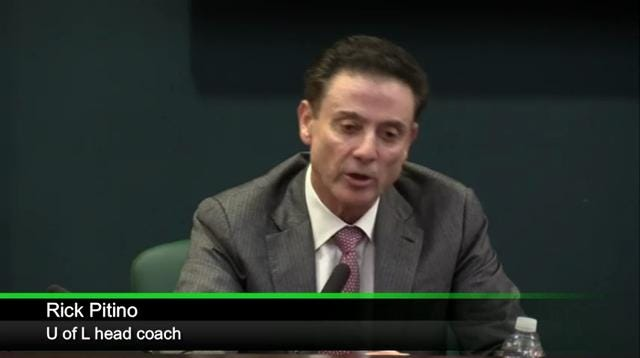 Rick Pitino reacts to NCAA allegations