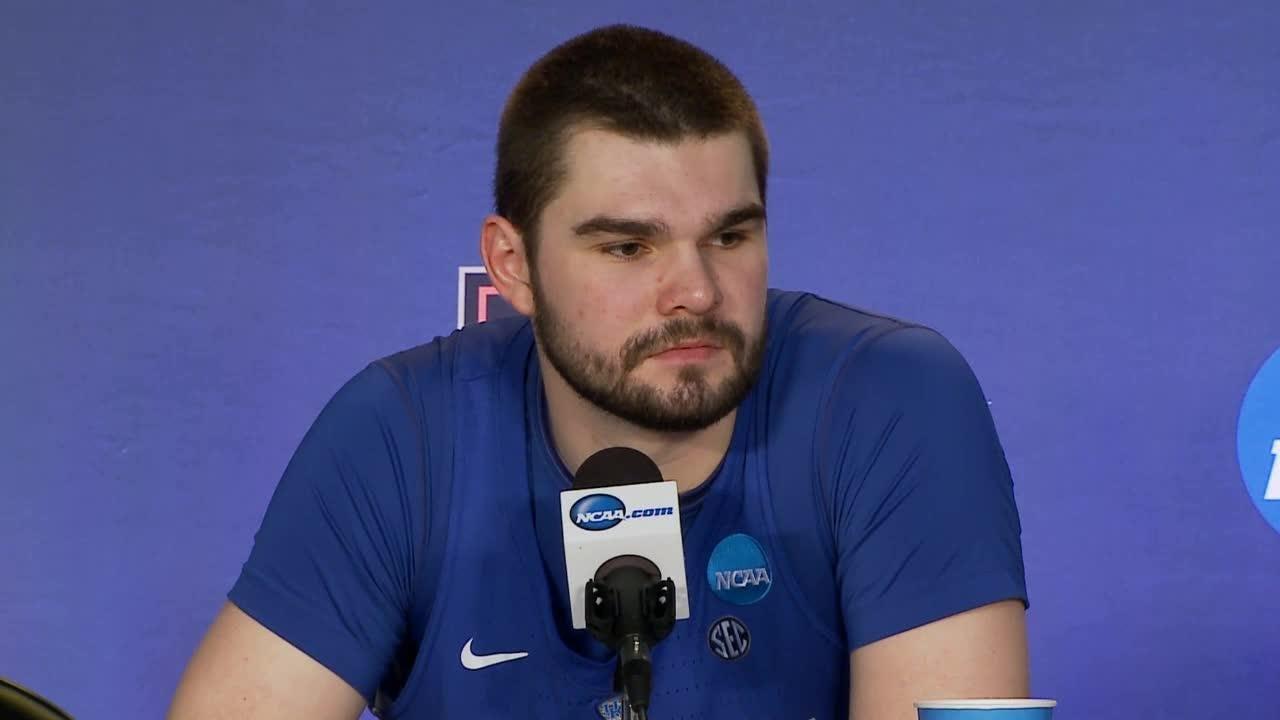 Kentucky's John Calipari talks about loss to North Carolina in Elite Eight