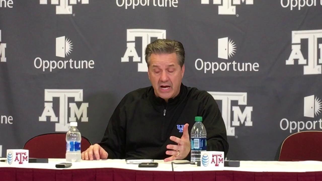John Calipari talks UK's win at Texas A&M