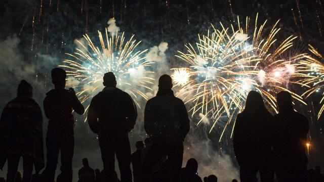 Skies were clear for the annual Kentucky Derby Festival fireworks show.