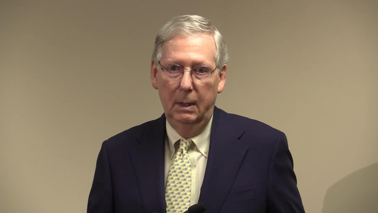 Mitch McConnell speaks about Syria