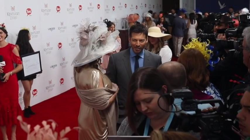 Harry Connick Jr. on red carpet at Kentucky Derby 2017