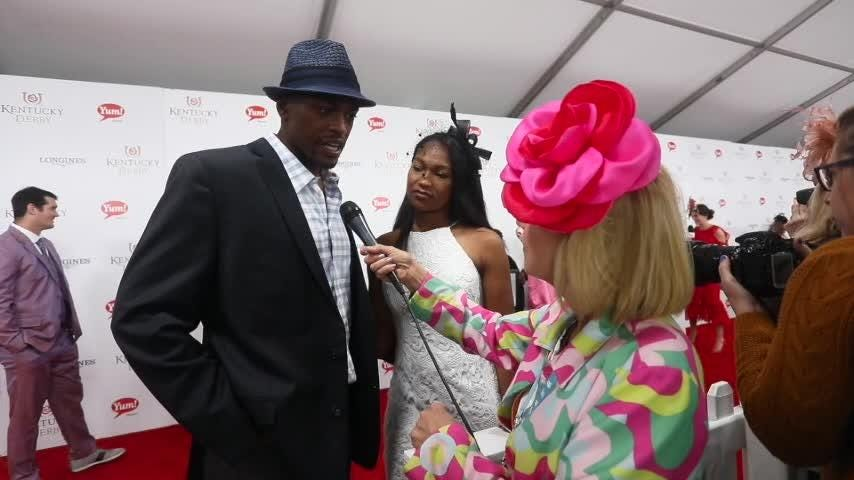 Justin Cornwell on the red carpet at Kentucky Derby 2017