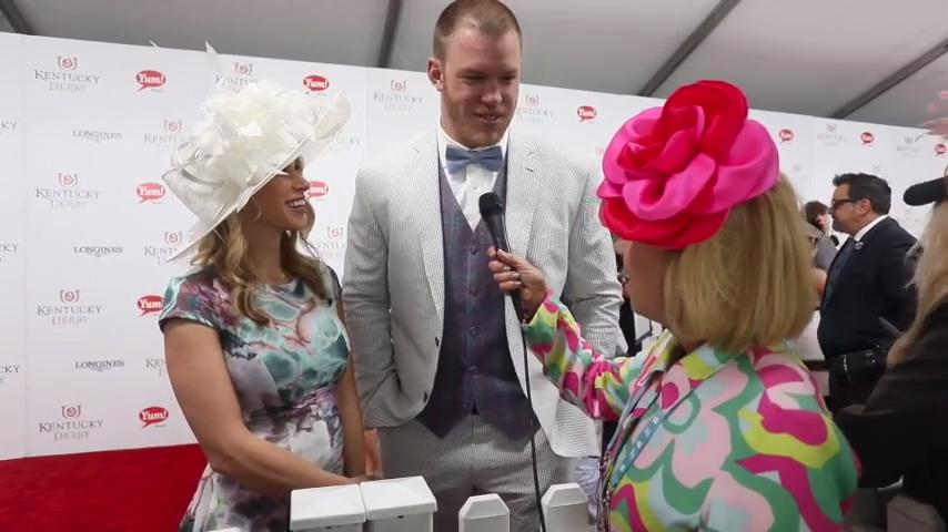 'Big Country' Kyle Rudolph on the Kentucky Derby 2017 red carpet