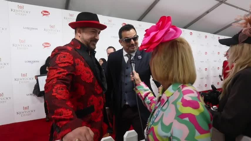 Joey Fatone returns to the red carpet for Kentucky Derby 2017