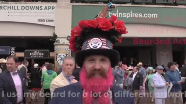 'World famous bearded actor' attends Kentucky Derby