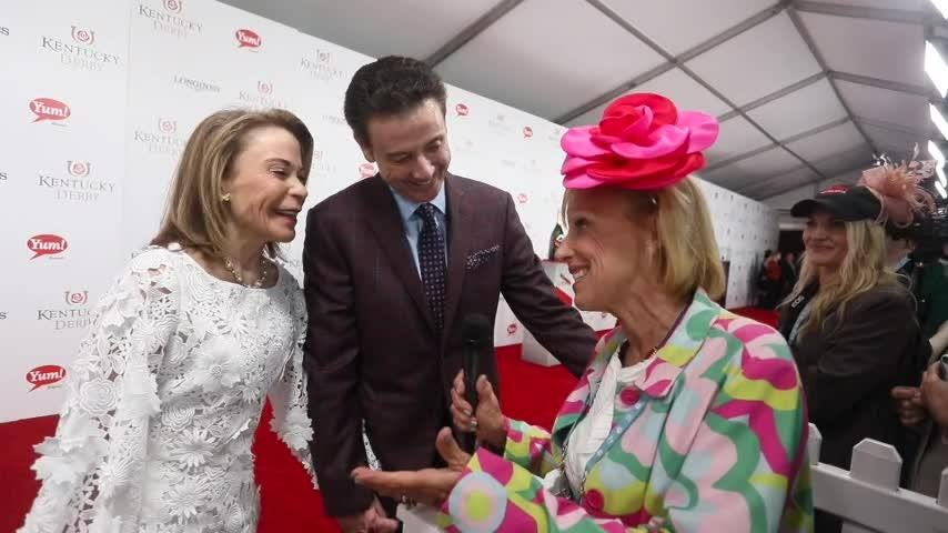Rick Pitino on the Kentucky Derby 2017 red carpet