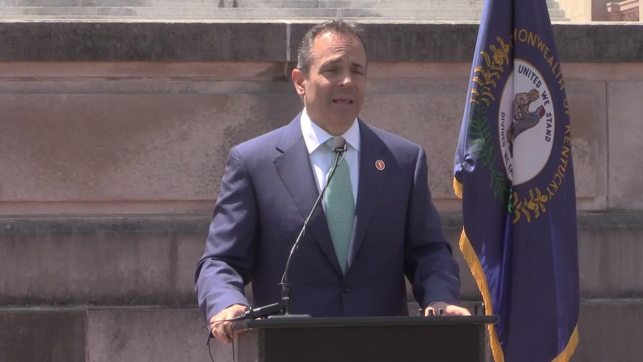 'Good things are happening' said Bevin in April 2017 as he talked about Braidy Industries, Toyota, and other companies in Kentucky.