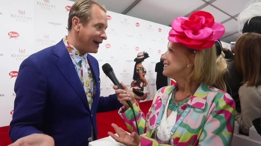 Carson Kressley talks fashion on the red carpet at Kentucky Derby 2017