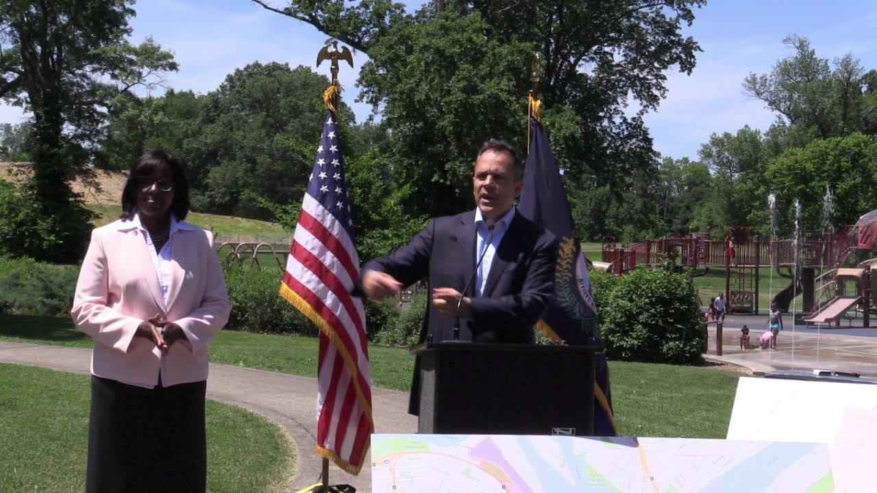'Let's not be fearful.' Bevin says on  idea for people to walk neighborhoods