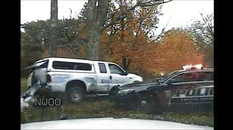 Dash cam footage: Police chase ends with fatal shooting