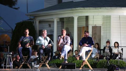 """In a question and session June 13, 2014, Kevin Costner defines """"Field of Dreams"""" as uniquely American alongside fellow cast members of the movie."""